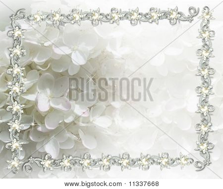 Wedding invitation jeweled