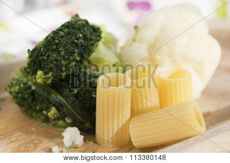 Pasta Broccoli And Cauliflowers