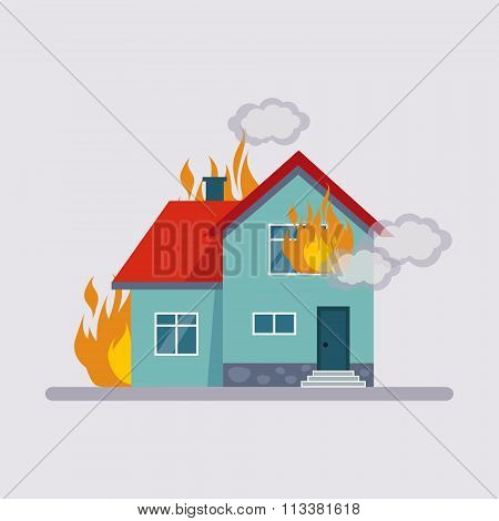 Fire Insurance Vector Illustartion