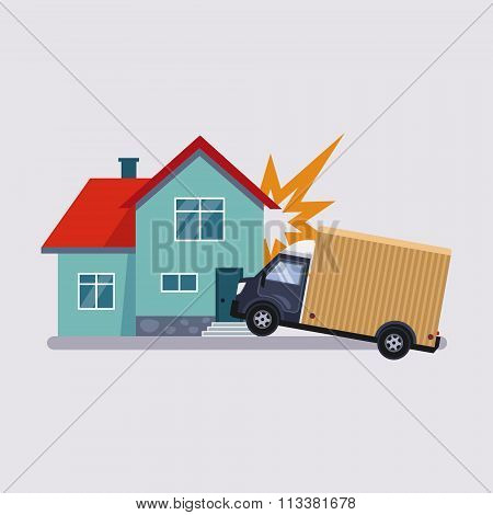 Accident Insurance Vector Illustartion