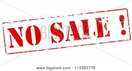 Rubber stamp with text no sale inside vector illustration