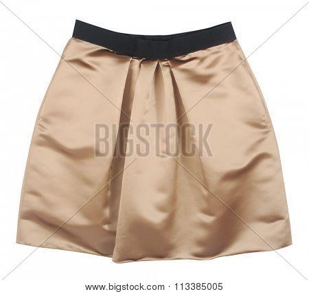 golden skirt isolated on white