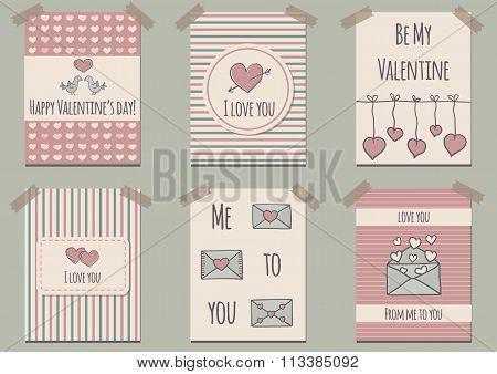 Ser of Valentine's Day cards
