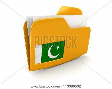 folder and lists with Pakistani Flag. Image with clipping path