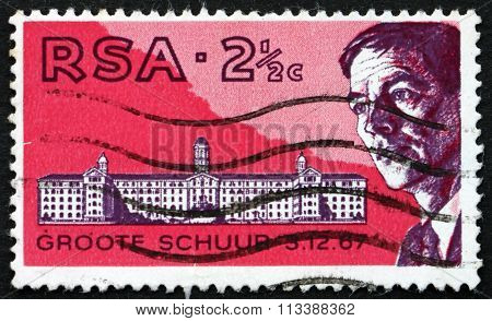 Postage Stamp South Africa 1969 Dr. Christiaan Barnard