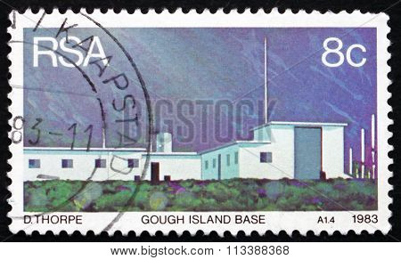 Postage Stamp South Africa 1983 Weather Station, Gough Island