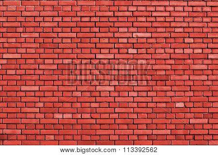 Fiesta Red Brick Wall Background