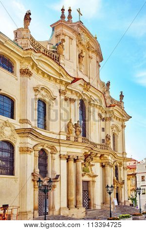 Church Of Saint Nicholas Is A Baroque Church In The Lesser Town Of Prague. Czech Republic.