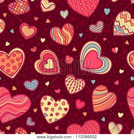 Seamless Valentine's Pattern.