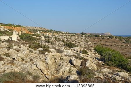 Ayia Napa International Sculpture Park with views of the Cape Greco