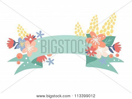 Vintage Valentine Day decoration flowers