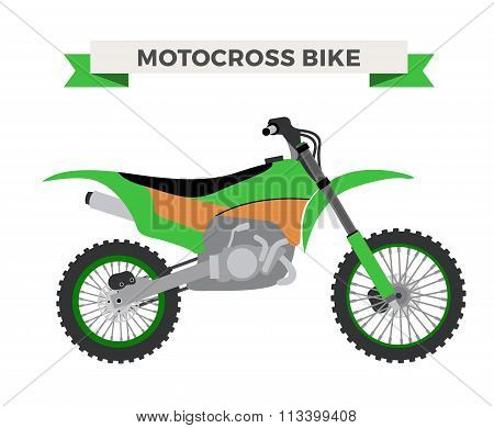 Vector motorcycle illustration. Moto bike isolated on white background