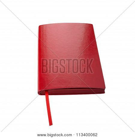Diary red on a white background