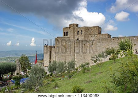 castle areal and Skanderbeg museum in Kruje, Albania