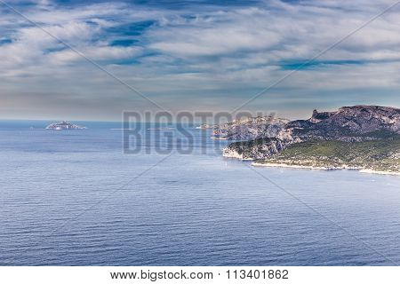 Cliff And Bays Near Cassis-route Des Cretes,france