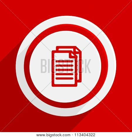 document red flat design modern vector icon for web and mobile app