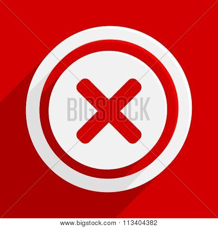 cancel red flat design modern vector icon for web and mobile app