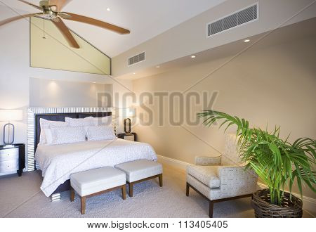 Luxurious Bedroom At Daytime