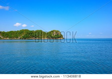 Ocean Island Of Blue Water