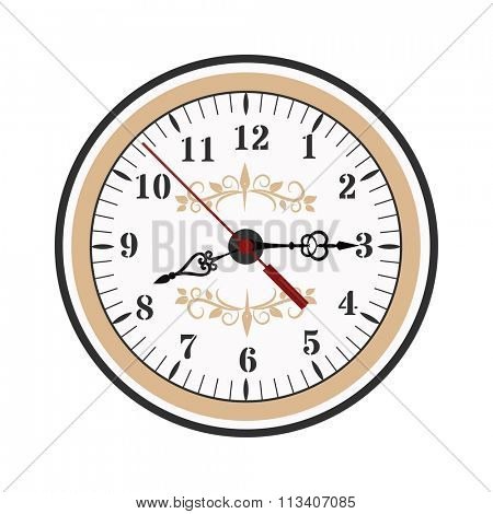 Clock watch alarms vector icons illustration. Clock face icons isolated on white background. Clocks, watch silhouette. Old, retro, modern and fashion clocks. Time tools icons, alarm, watch icons