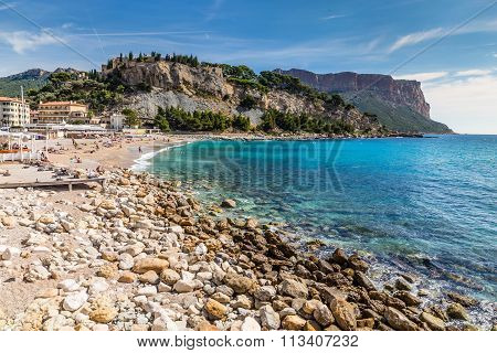 Stony Beach And Cap Canaille-cassis,france