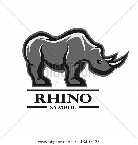 Rhino for the symbol, logo, labels.
