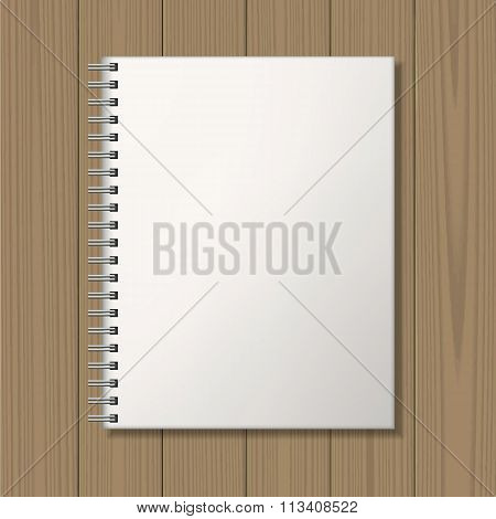 Notepad with spiral binding mock up