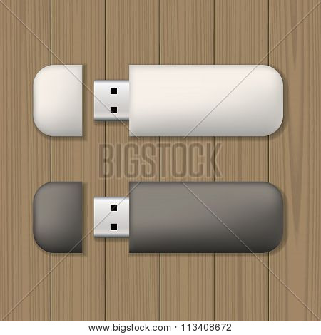 Usb memory sticks mock up