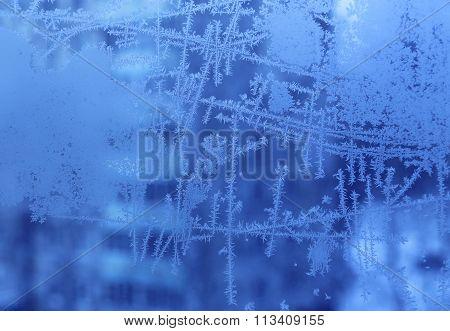 Ice Pattern On Glass