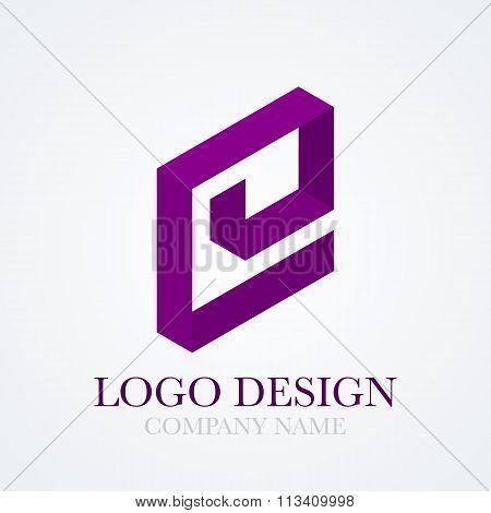 Vector illustration logo letter e