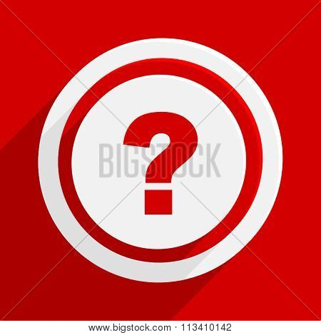 question mark red flat design modern vector icon for web and mobile app