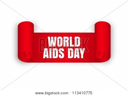 Vector illustration world AIDS Day