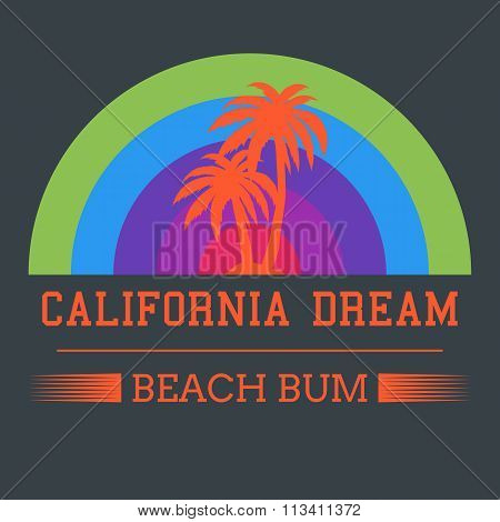 california dream typography