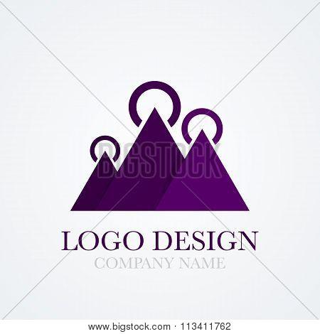 Vector illustration of a mountains logo