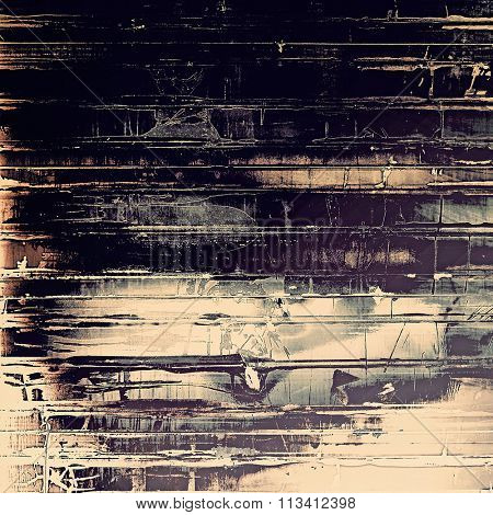 Abstract old background with rough grunge texture. With different color patterns: yellow (beige); purple (violet); gray; black
