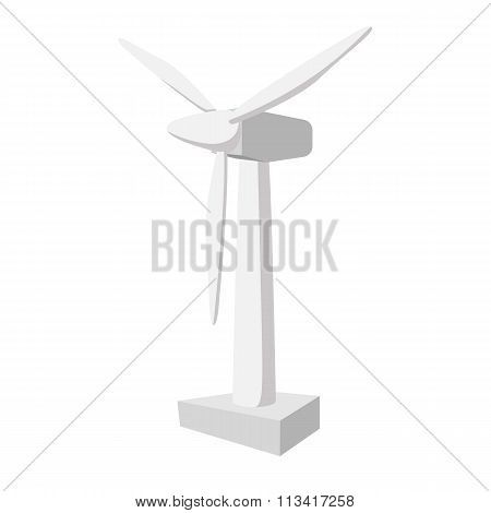 White ventilator cartoon icon