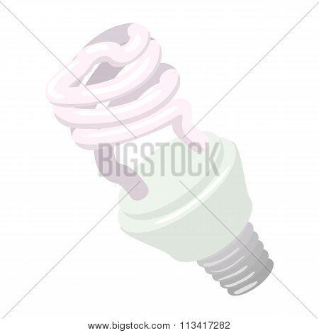 Efficient powersaving bulb cartoon icon