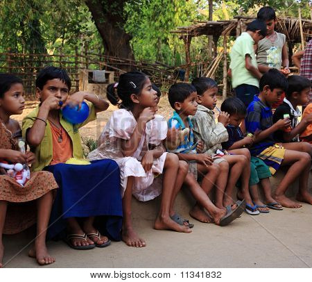 Young School Children India