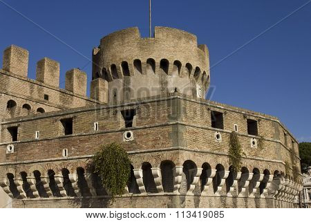 Close Up Of Castel Sant'angelo Tower