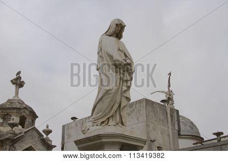 Marble Monument, Recoleta Cemetery, Buenos Aires, Argentina