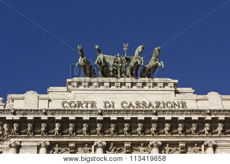 Rooftop Of Palace Of Justice In Rome