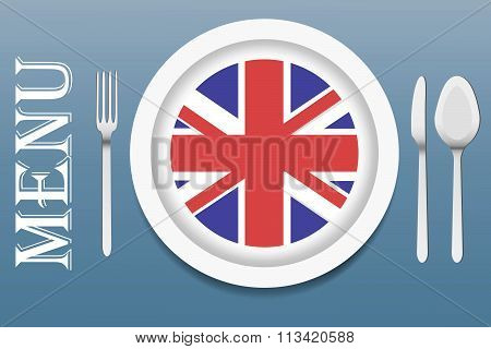 Ready For Serving British Cuisine Vector