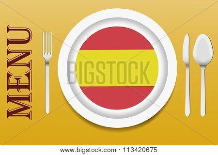 Spanish cuisine menu vector