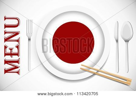 Ready for serving Japanese cuisine vector