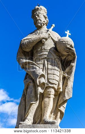 Statue Of Charles The Great-kutna Hora,bohemia