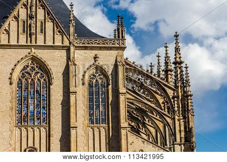 Detail Of St.barbara's Church (cathedral)-kutna Hora