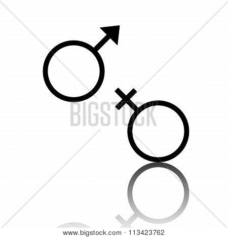 Sex symbol. Vector illustration