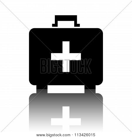 First aid box icon on white background