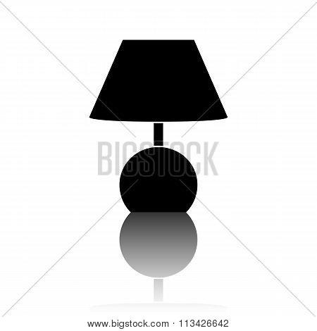 Stock Vector Illustration. Lamp icon