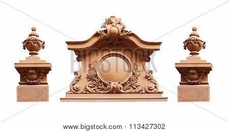 Sculpture On A White Background